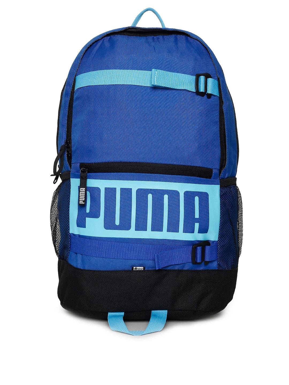 03bcb53f34 Buy Puma Unisex Grey Brand Logo Deck Backpack - Backpacks for Unisex ...