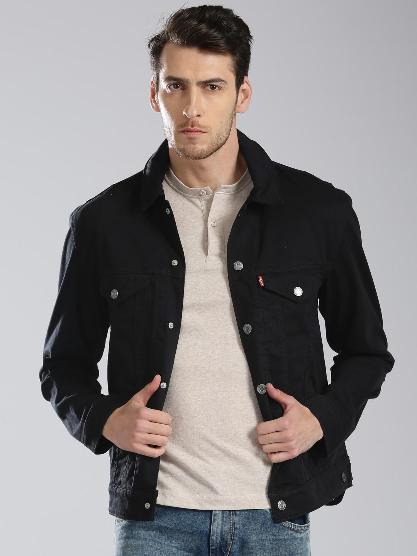 69ef646cc Buy Jack & Jones Black Washed Denim Jacket - Jackets for Men 1069372 |  Myntra