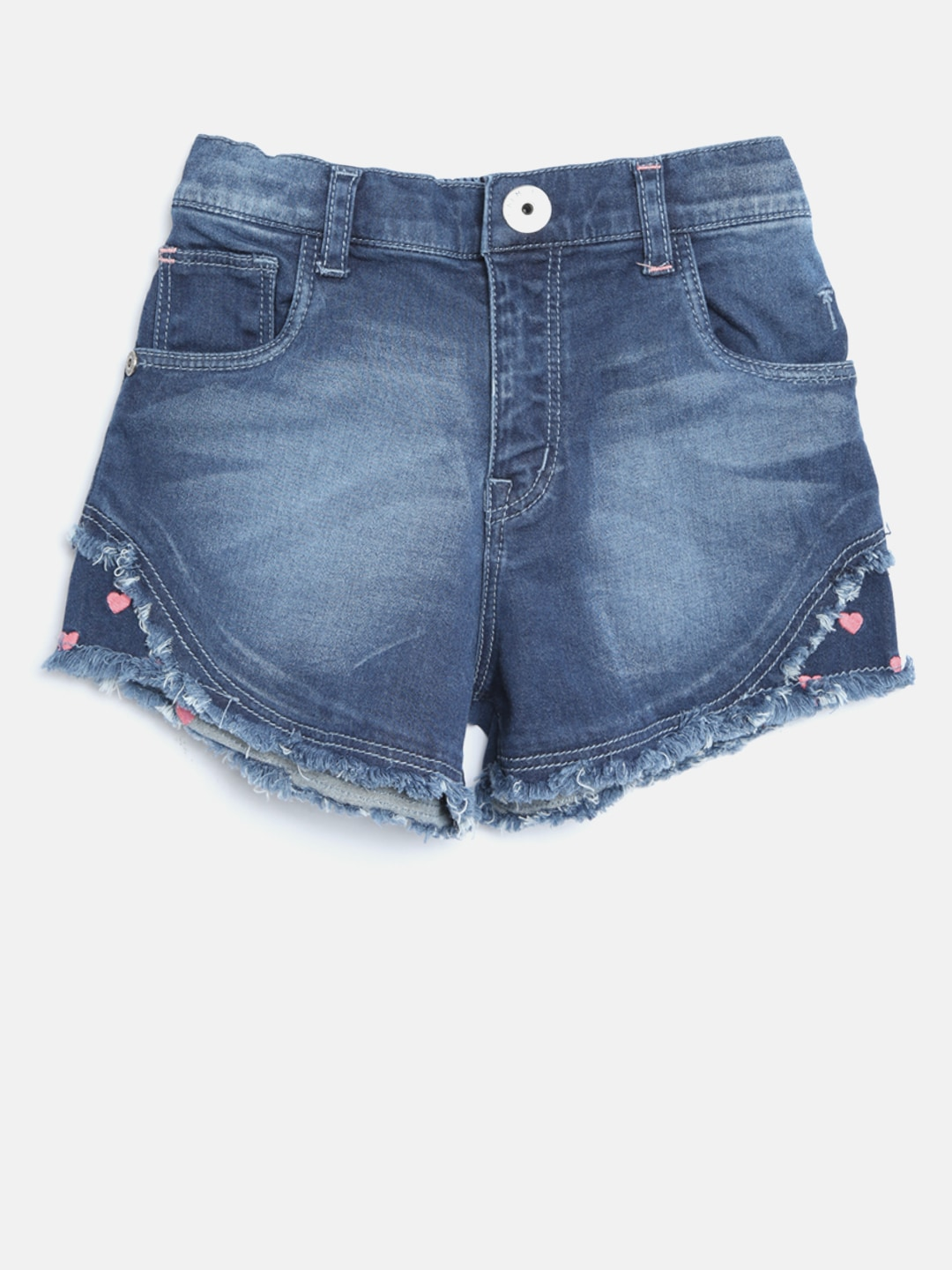 a6e5e25d5 Buy VITAMINS Girls Black Washed Distressed Denim Shorts - Shorts for ...