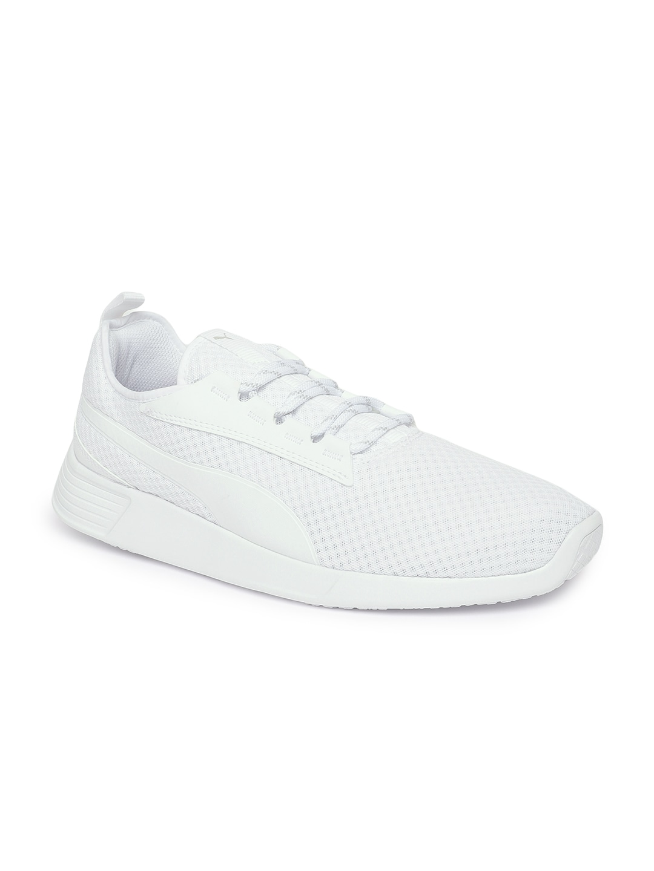 a2af751aaa3 Buy Puma Men White   Grey Tishatsu Runner Knit Training Shoes ...