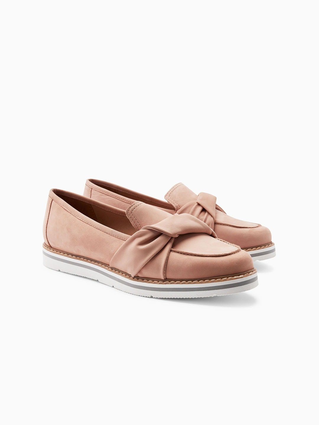 318d45608a0 Buy Mast   Harbour Women Dusty Pink Loafers With Embellished Detail ...