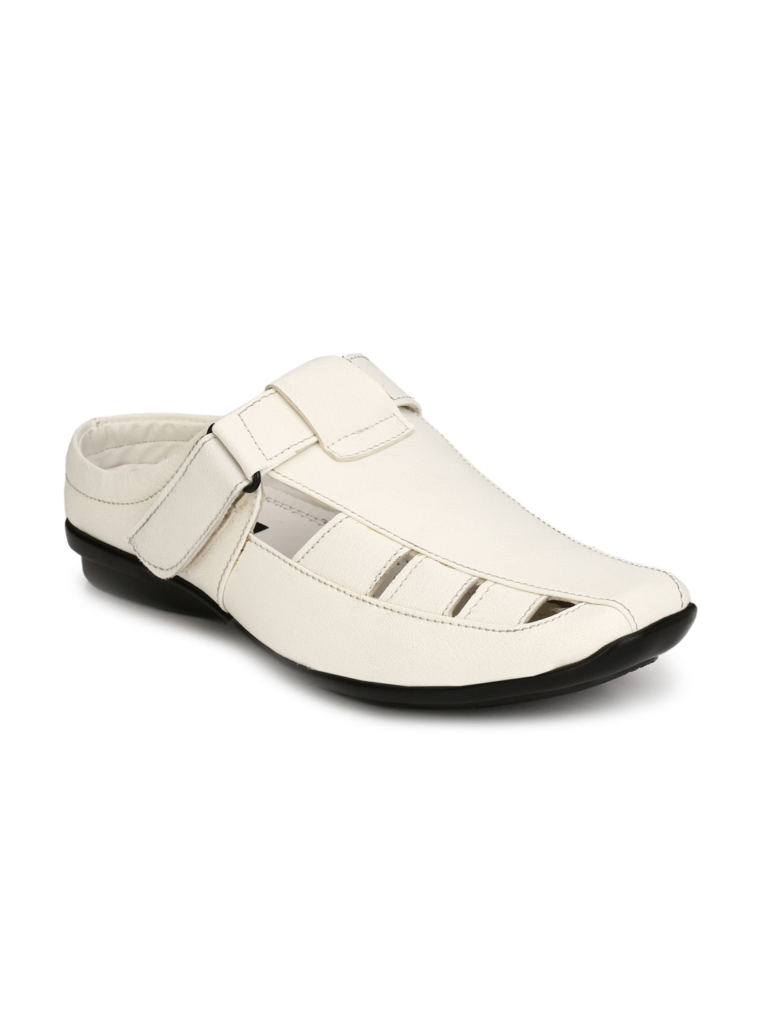 6b3a9ae81a9a Buy Get Glamr Men White Semi Formal Slip Ons - Formal Shoes for Men ...