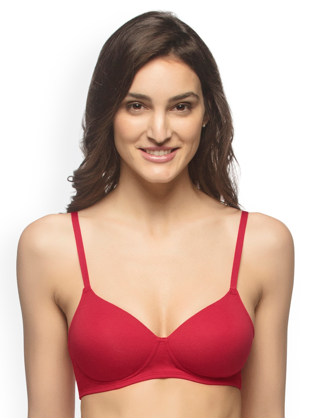 988917c7d086c Amante Red Solid Padded T Shirt Bra for women price in India on 2nd ...