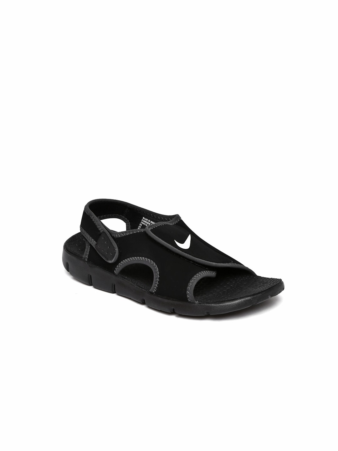 ef8fc5734005 Nike Sunray Adjust 4 Black Sandals for Boys in India March