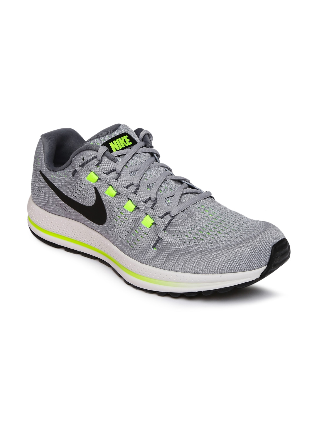 74fe514712f9d Nike Air Zoom Vomero 12 Grey Running Shoes for Men online in India ...