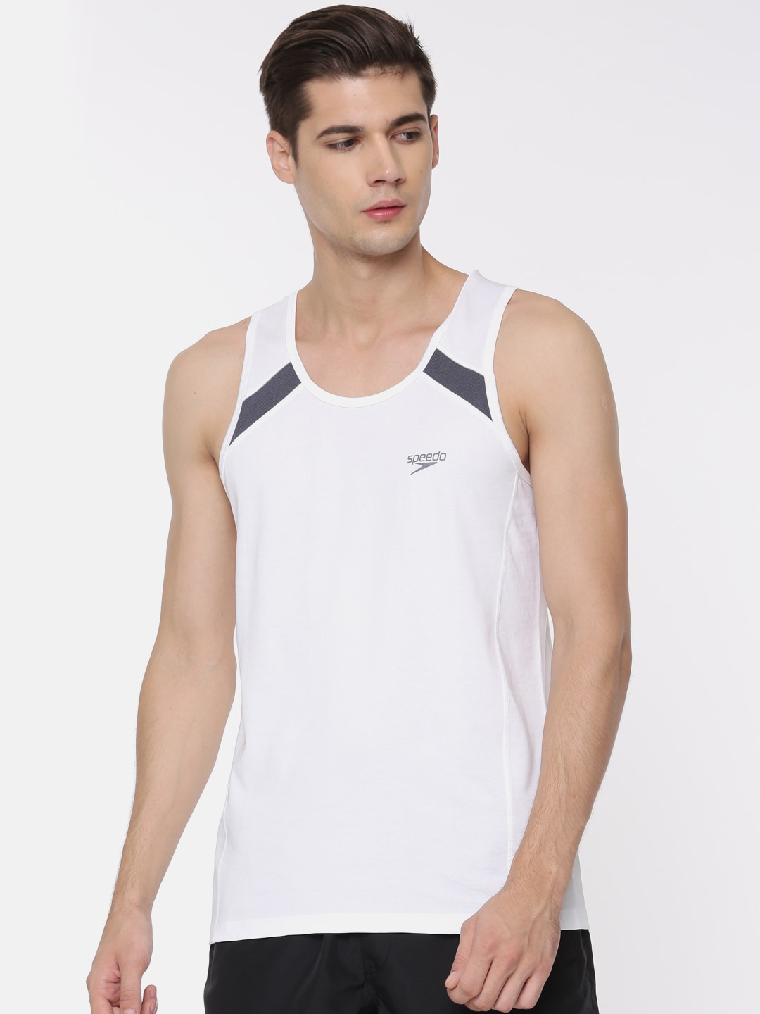450191c30e253 Buy ADIDAS Men Black Sleeveless T Shirt - Tshirts for Men 306505 ...