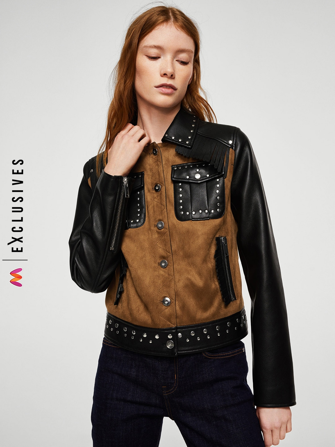 Mango Black Leather Jacket For Women Price In India On 20th January