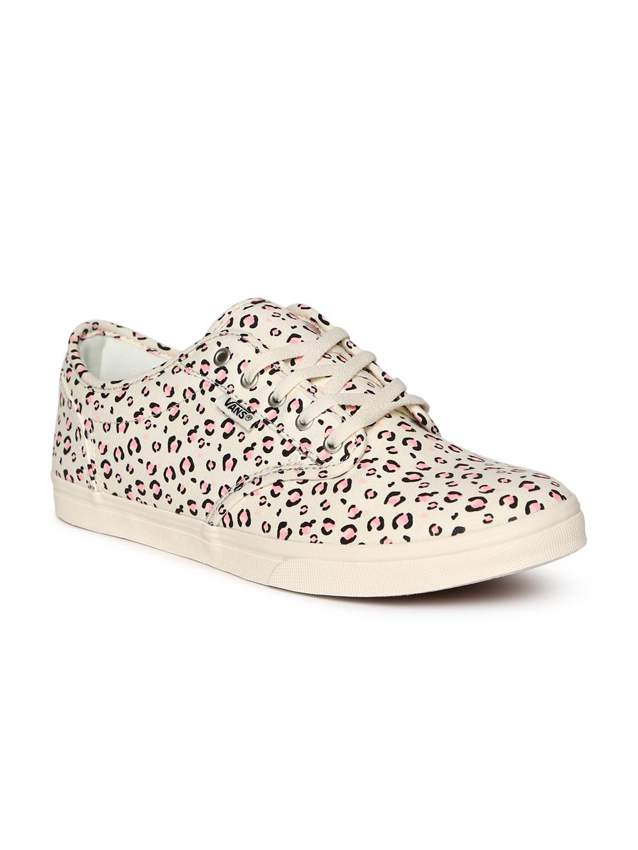 b23944f650 Buy Vans Women Beige   Black Animal Print Slip On Sneakers - Casual ...