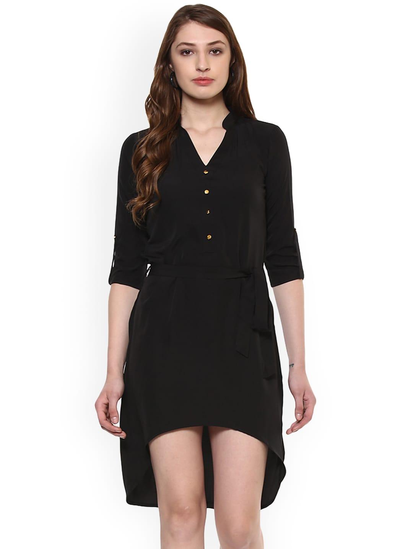 e5ee74a23a8 Buy DODO   MOA Women White Printed Wrap Dress - Dresses for Women ...