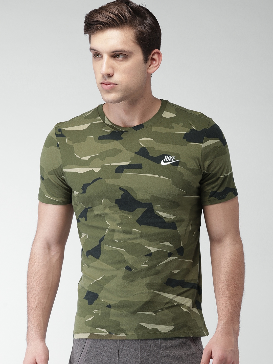 25e9a2ba Buy ADIDAS Originals Men Olive Green Camouflage Club Jersey T Shirt ...