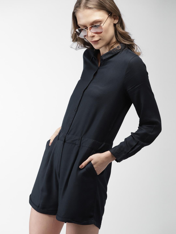 d22404c44e3 Buy Eavan Green Solid Playsuit - Jumpsuit for Women 7409668