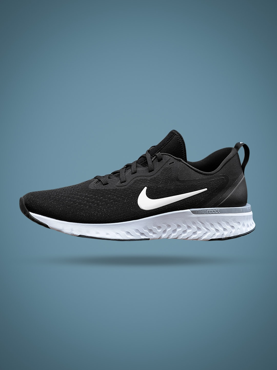 8cd40414e3f Nike Odyssey React Black Running Shoes for Men online in India at ...