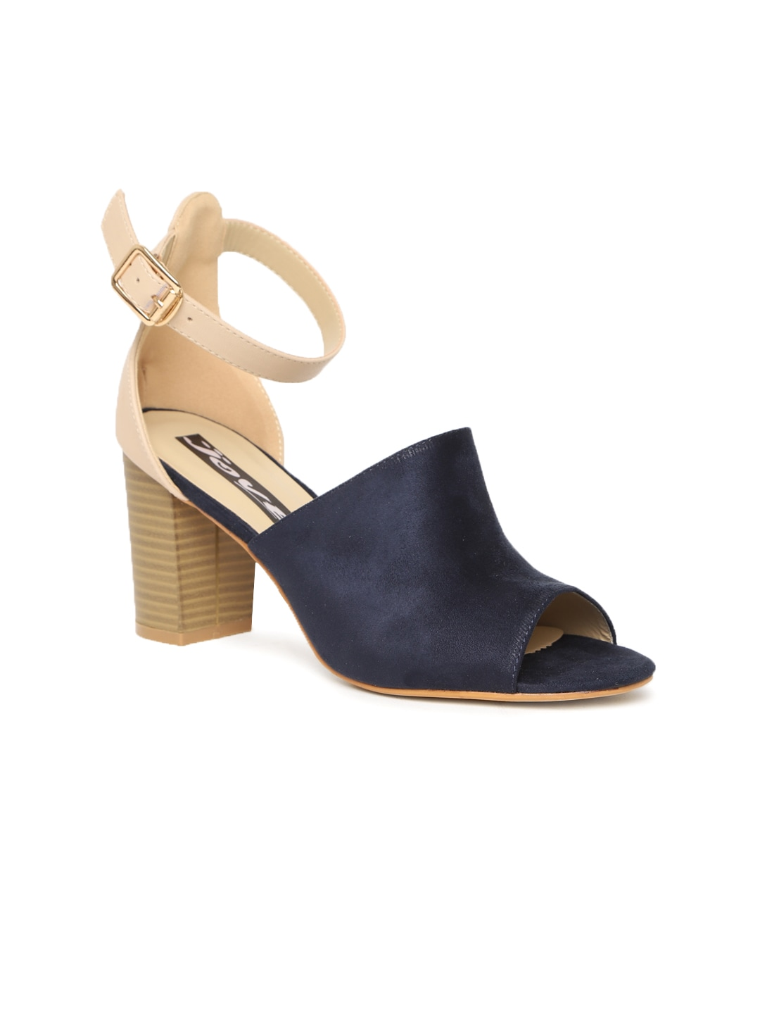 Jove Navy Blue Belly Shoes for women - Get stylish shoes ...