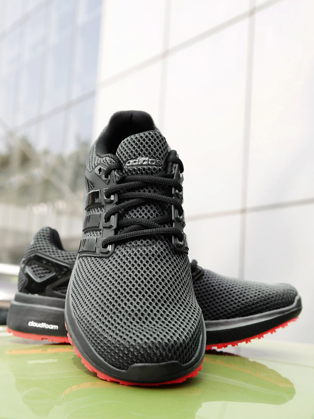 cbc4dee63 Buy ADIDAS Men Grey   Black Alphabounce Engineered Mesh Running ...