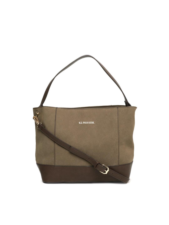 Buy U.S. Polo Assn. Women Peach Coloured Self Design Sling Bag ... d5ce6bf535
