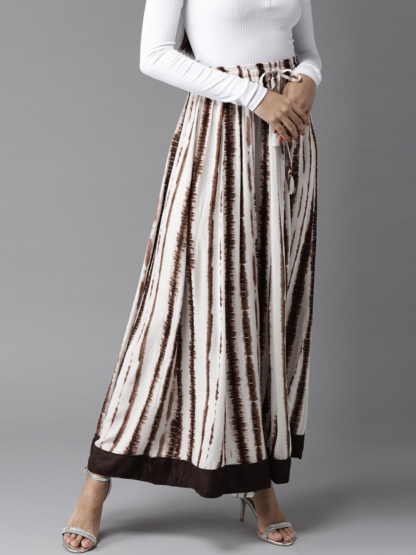 0525490f72 Buy AKKRITI BY PANTALOONS White & Red Striped Maxi Skirt - Skirts ...
