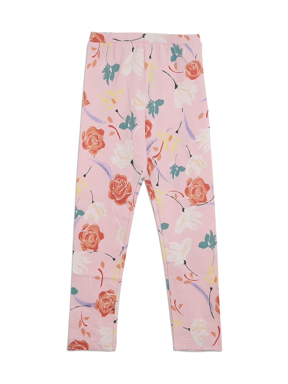 9acb470a7b07b Buy DChica Girls White & Yellow Striped Leggings - Leggings for ...