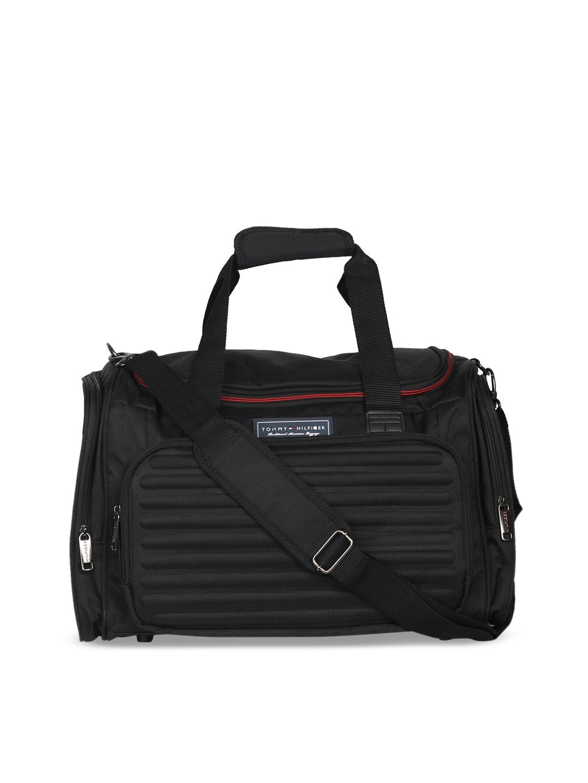 c990de462 Buy Tommy Hilfiger Unisex Black Printed Duffel Bag - Duffel Bag for ...