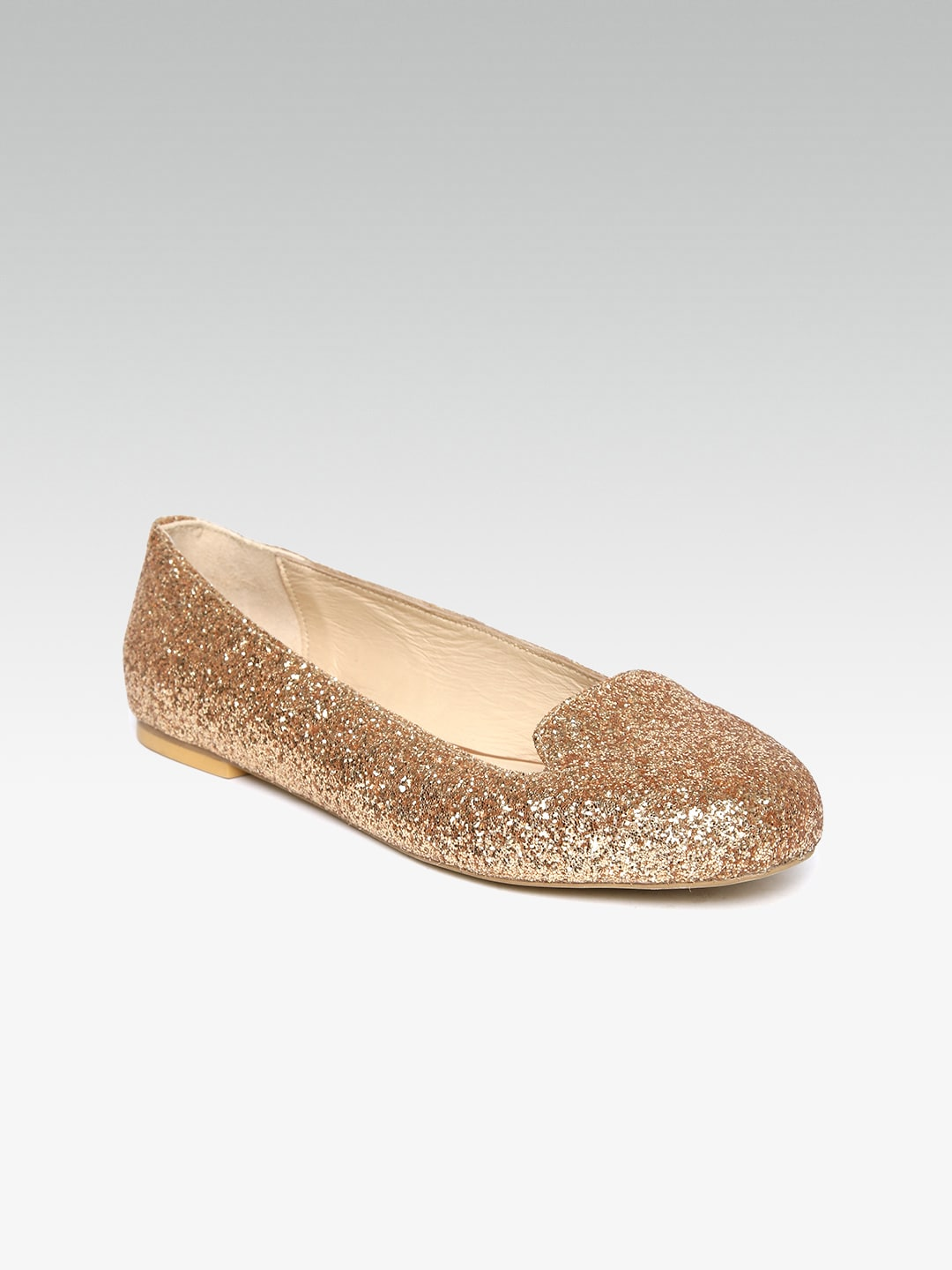 d302bab70 Buy Monrow Women Rose Gold Shimmery Flats - Flats for Women