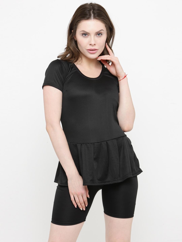 73800654c7c20 Buy N Gal Women Black   Blue Printed Swimsuit - Swimwear for Women ...