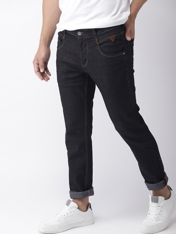 7e9f1886d9dde Buy Harvard Men Black Slim Fit Mid Rise Clean Look Stretchable Jeans ...