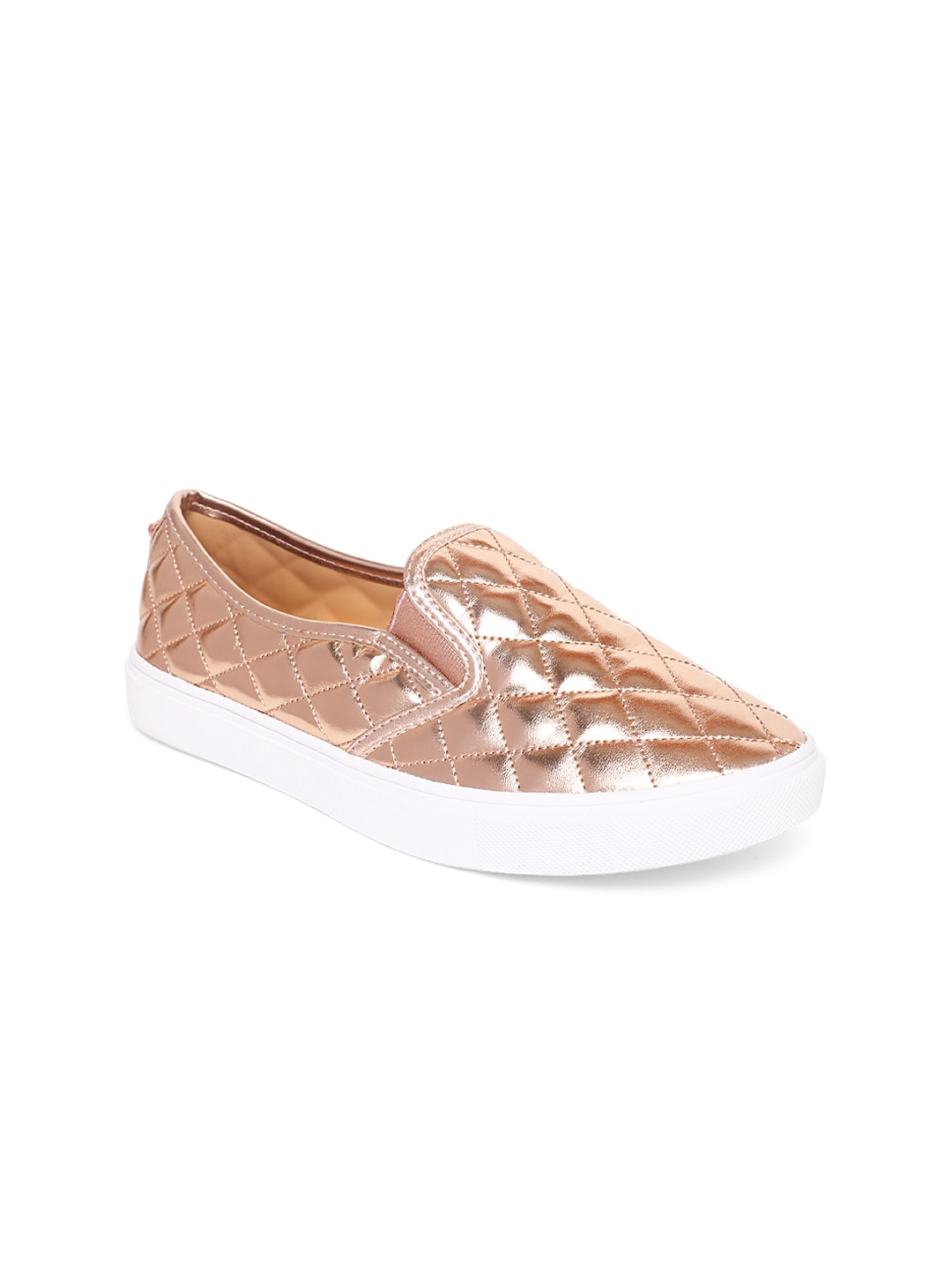 f72b9dca123 Buy Steve Madden Women Gold Toned ECENTRCQ Slip On Sneakers - Casual ...