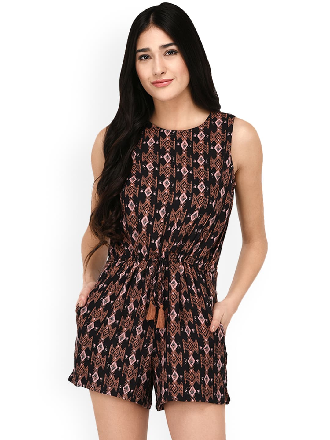 eb57c6f996 Buy PURYS Red Printed Playsuit - Jumpsuit for Women 1292507
