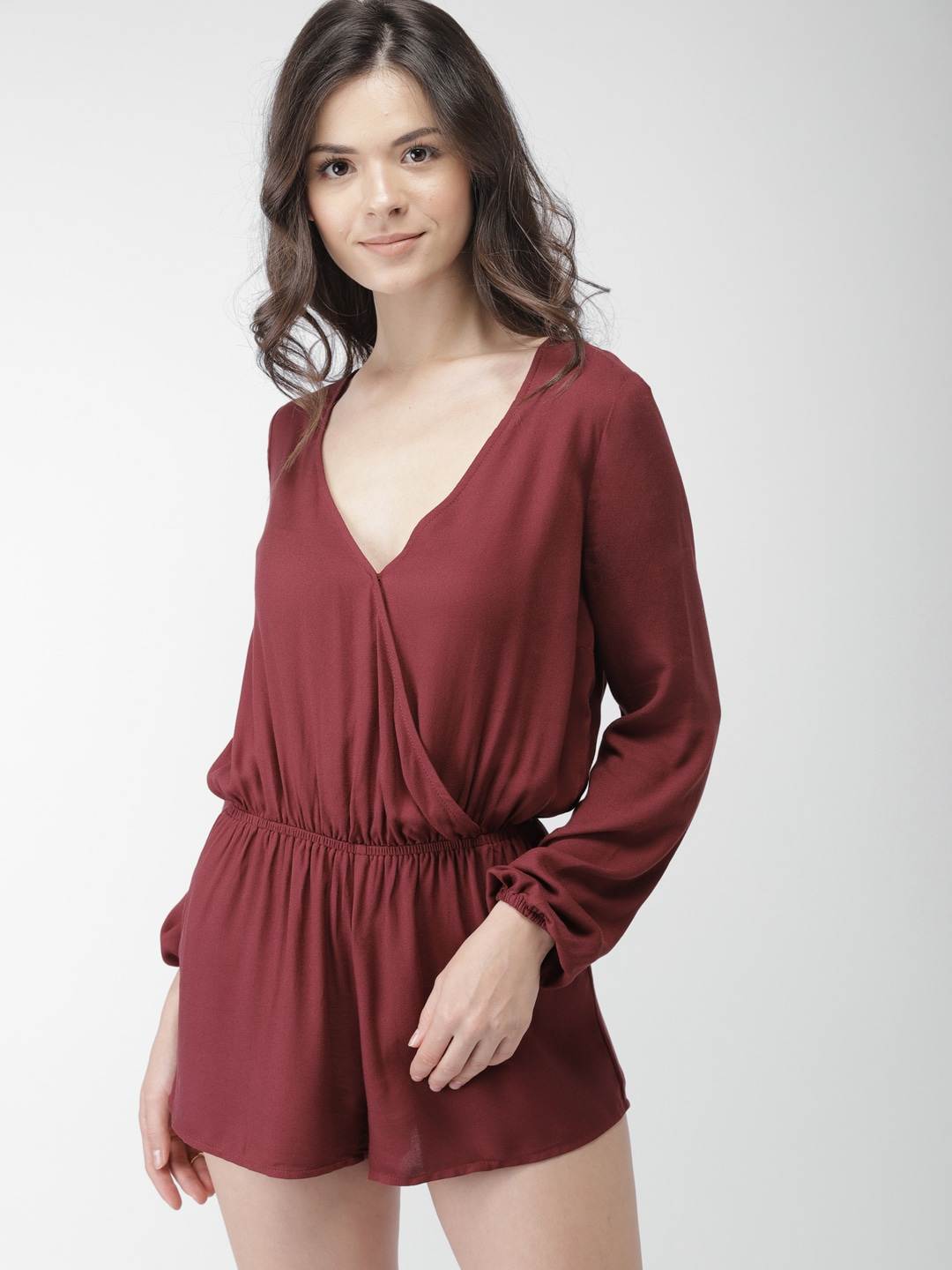 2f61c5a6606 Buy FOREVER 21 Rust Orange Playsuit - Jumpsuit for Women 1858000 ...