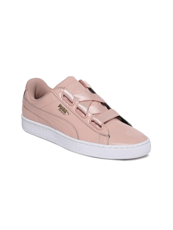 quality design f5d24 606b8 Buy Puma Basket Heart Wn S Women Peach Coloured Slip On ...