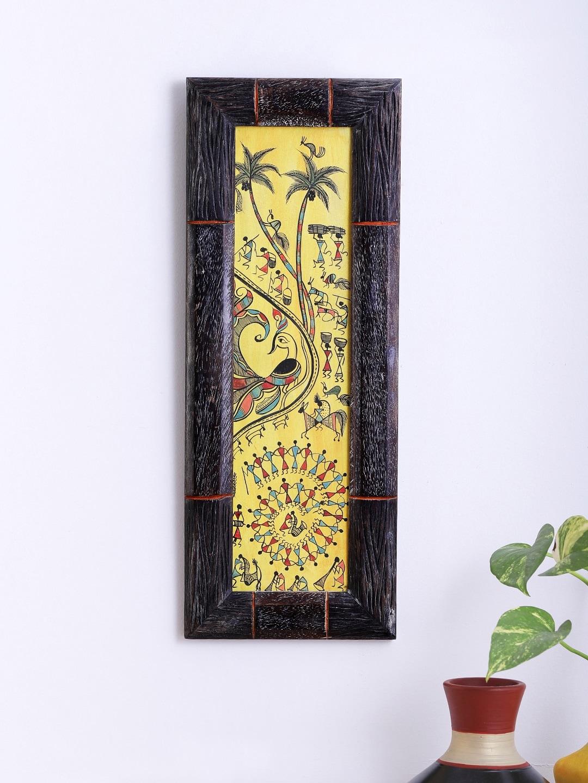 Buy ExclusiveLane Mango Wood Handcrafted Name Plate With Madhubani ...