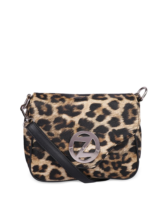 18a0a252a9 Buy DressBerry Black Animal Print Handbag - Handbags for Women ...