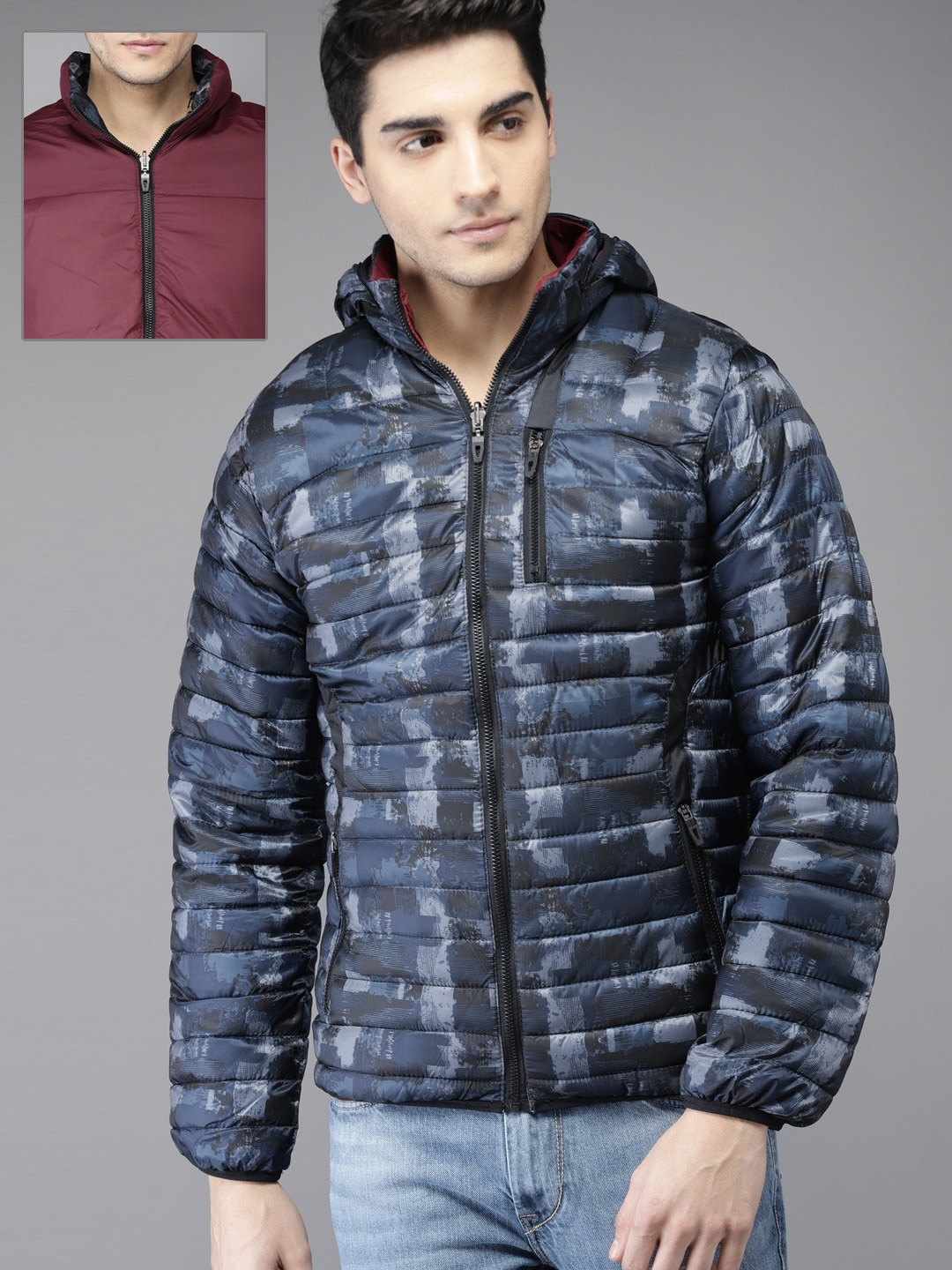 Padded Jackets Buy Online In India At Best Price Jaket Parka Df K94