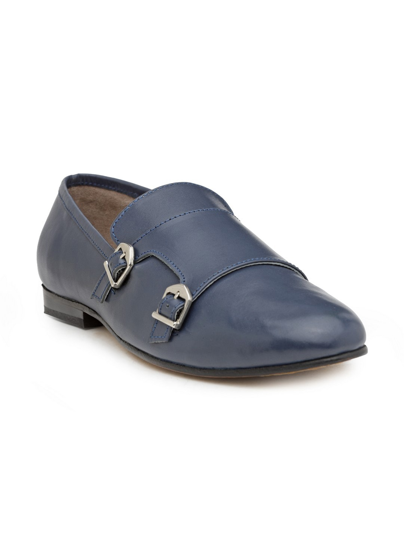 778bd63fc88 Buy J.FONTINI Men Black Leather Semi Formal Slip Ons - Formal Shoes ...