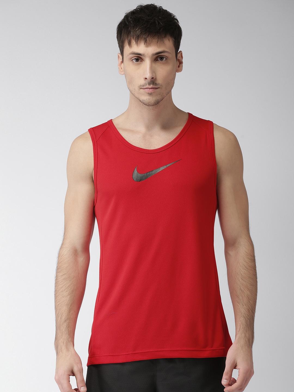 71a06ebf67a7 Buy Nike Jordan NBA Rise Men Red Solid RISE DRI FIT Basketball Tank ...