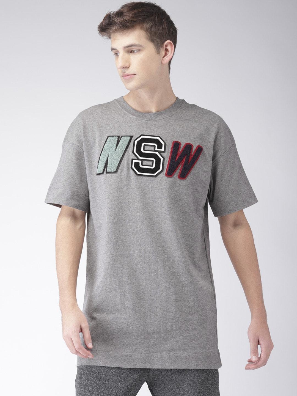 0d2573e8e214b2 Buy Nike Black Jordan Sportswear Alt Hem Foil T Shirt - Tshirts for ...