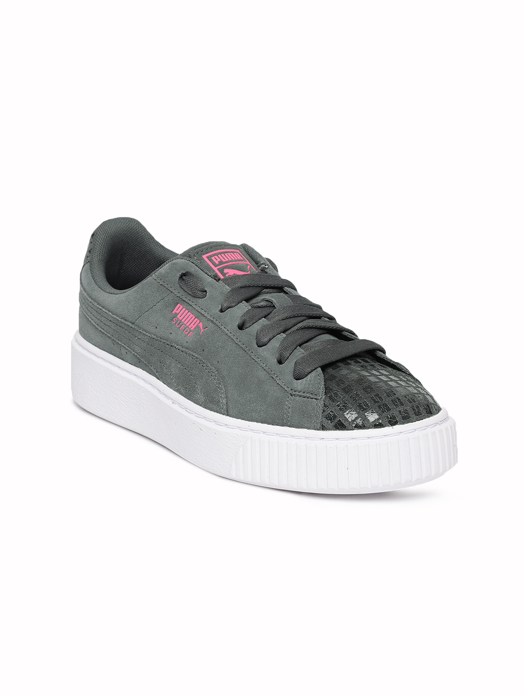 93fafe14cf5 Buy Puma Women Black Smash Platform SD Suede Sneakers - Casual Shoes ...