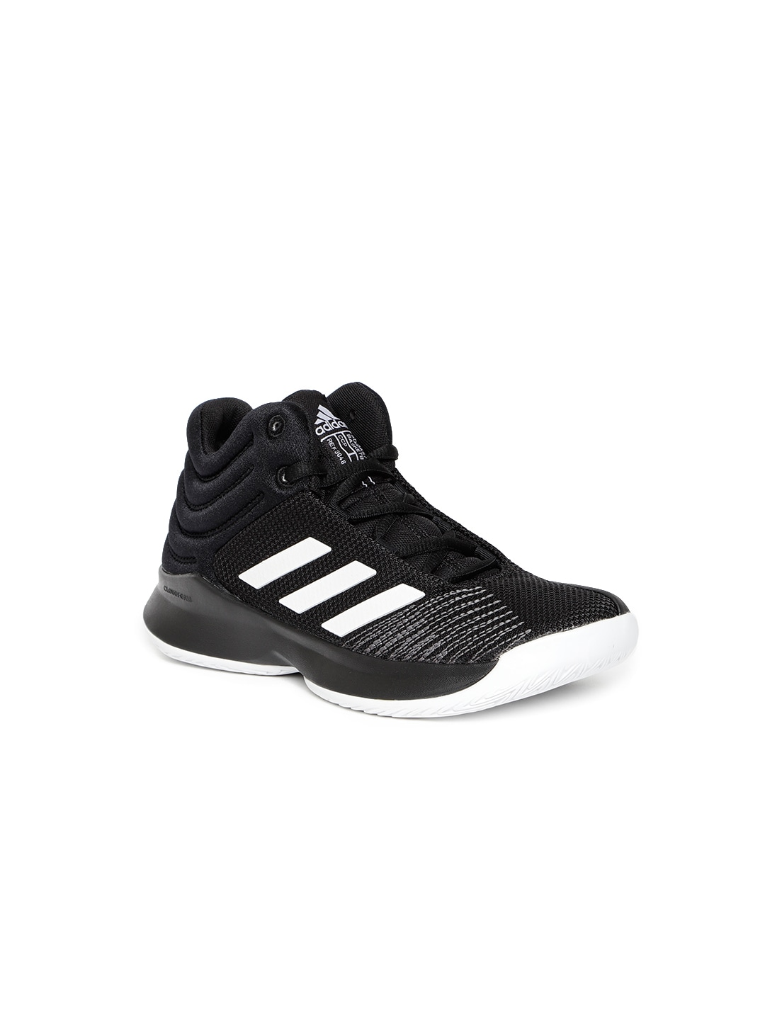 57927ca2c7e38 Adidas Pro Spark 2018 Black Basketball Shoes for Boys in India June ...