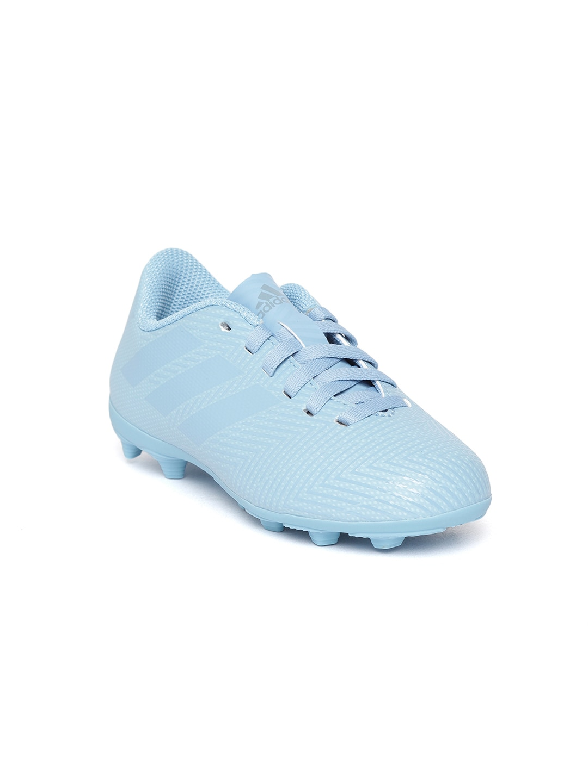 cf0a3d9d8e07 ADIDAS Boys Blue NEMEZIZ Messi 18.4 Flexible Ground Boots Football Shoes