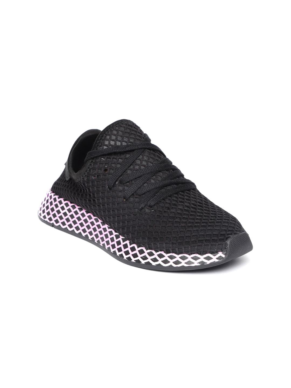 release date: c11a8 cde6d Adidas Originals Women Black Deerupt Sneakers