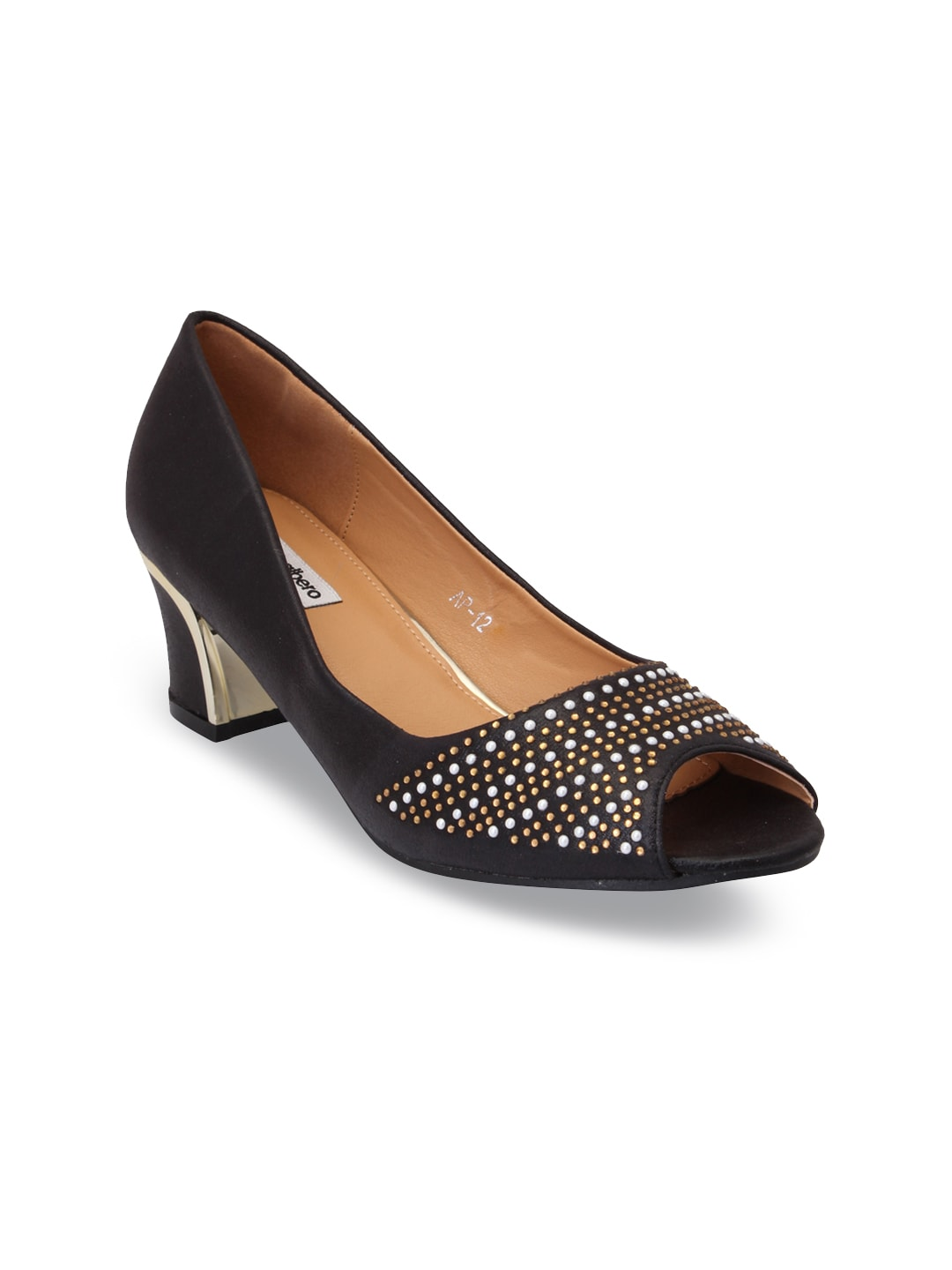 44e68146bee Buy Ginger By Lifestyle Women Black Solid Peep Toes - Heels for ...