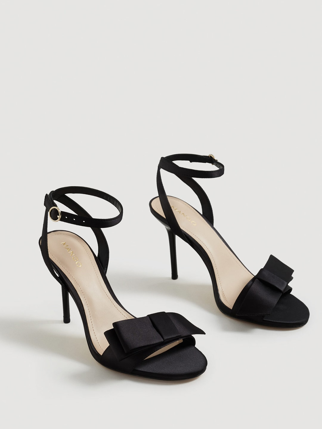 MANGO Women Black Solid Stilettos