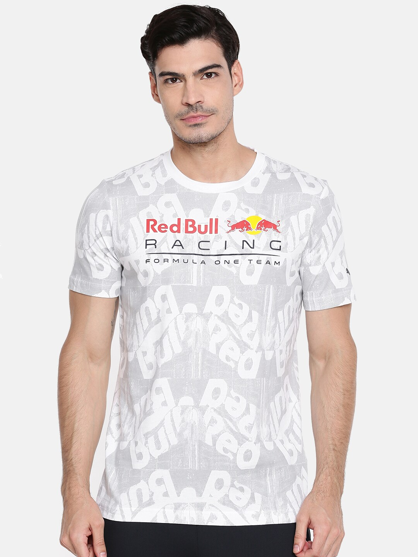 2c7828852af Buy Puma White Red Bull Racing Double Bull Printed T Shirt - Tshirts ...