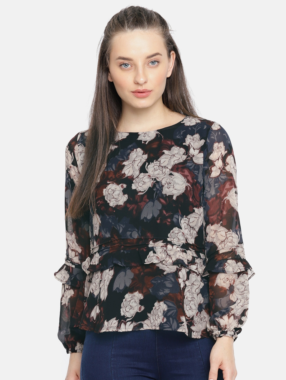 8150610f67afb Buy Lee Cooper Women White Striped Blouson Top - Tops for Women ...