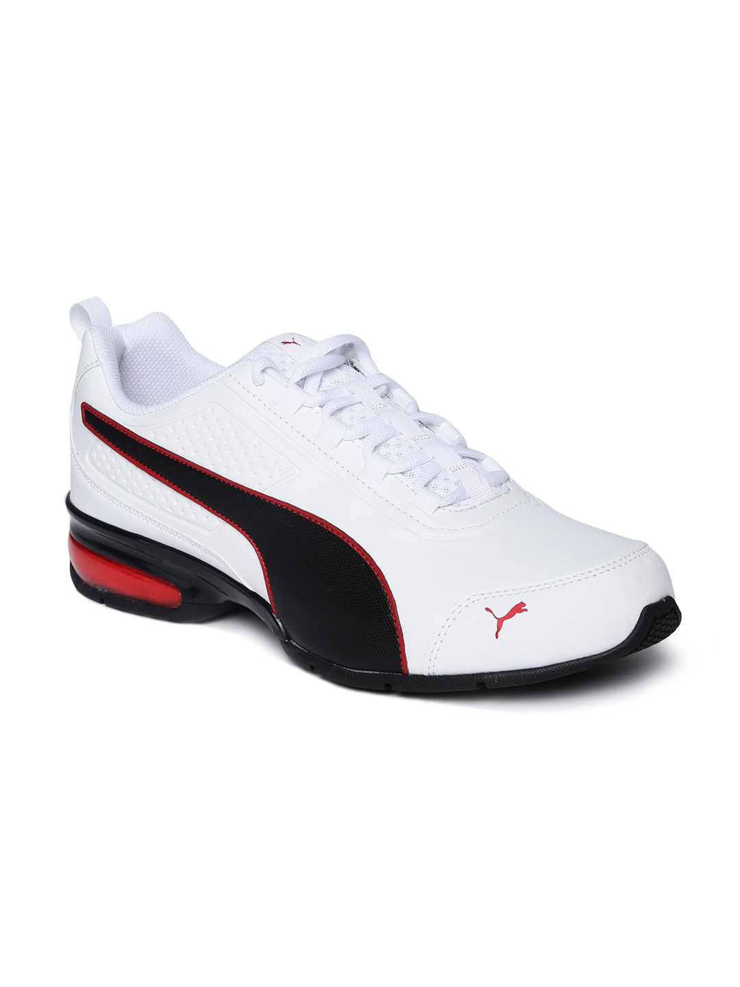 ef7ded575ea0 Buy Puma Men White   Red Feral Runner Running Shoes - Sports Shoes ...