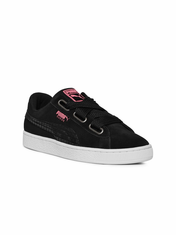 d6ab40e9d1a6 Buy Puma Women Black Basket Heart Ath Lux Sneakers - Casual Shoes ...
