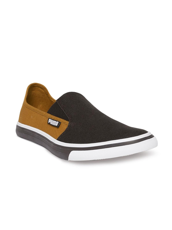 009fa7f1352 Puma Slyde Nu Idp Golden Brown Chocolate Brow Brown Sneakers for Men ...