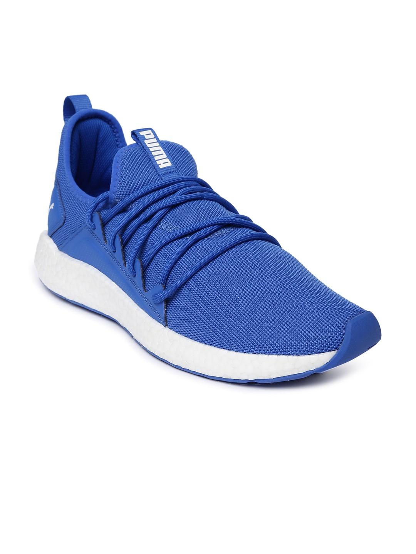 Buy Puma Men Navy Blue NRGY Neko Knit Running Shoes - Sports Shoes ... 50c6ad13d