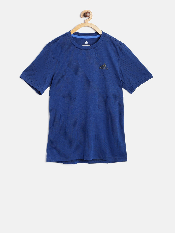 Buy Adidas Boys Blue YB Messi Icon Jersey Patterned Football T Shirt ... fba6f13e6