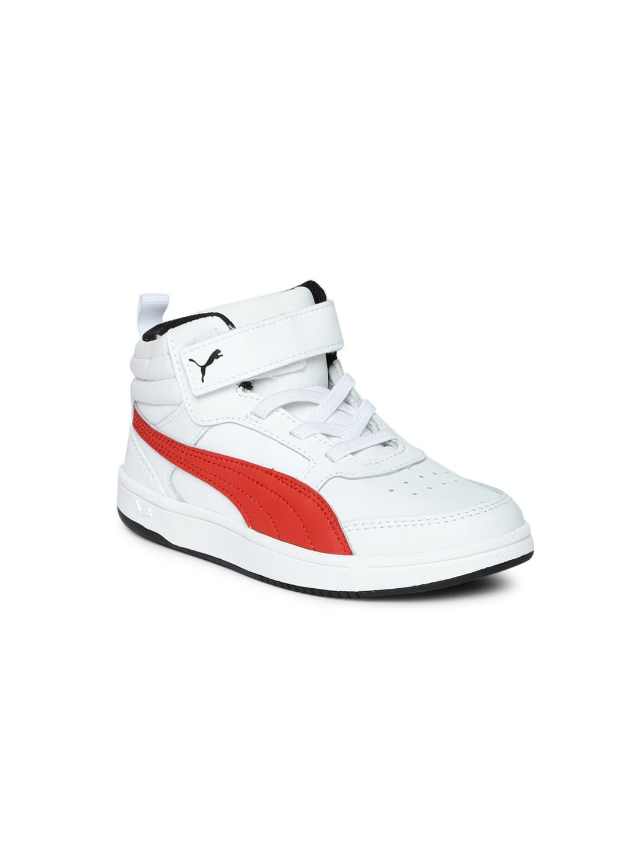 6d6deb7ab74e Buy Puma Boys Rebound Street V2 L V Pre School Leather Sneakers ...