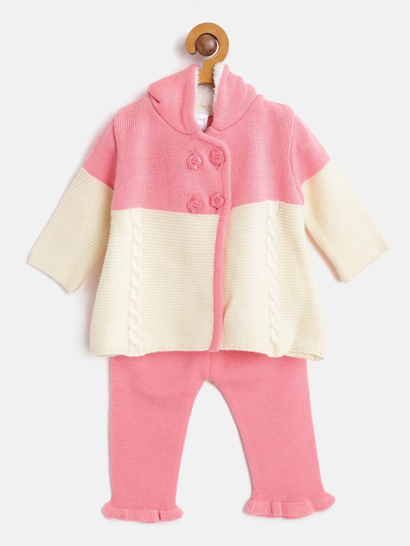 905924402e2f Buy Wingsfield Girls Beige Self Design Hooded Cardigan With Pyjamas ...